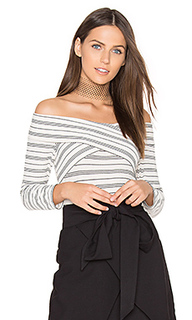 Drew knit off shoulder top - Greylin