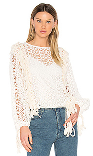 Fringe detail long sleeve top - See By Chloe