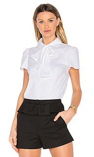 Tie neck short sleeve top - Red Valentino
