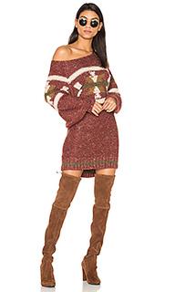 Вязаное мини платье northern lights - Free People