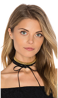 Leather wrap choker - Fallon
