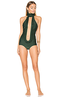 Frilled neckline one piece - ADRIANA DEGREAS