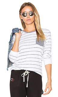 Stripes slub tee with pocket - SUNDRY