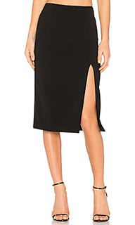 Slick pencil skirt with slit - T by Alexander Wang