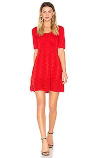 Short sleeve scoop neck mini dress - M Missoni