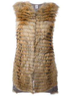 меховое пальто без рукавов Eleventy