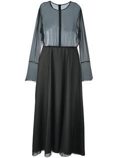 платье с прозрачным слоем Andrea Ya'aqov
