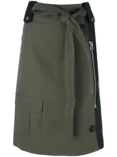 юбка комбинированного кроя в стиле милитари  Each X Other