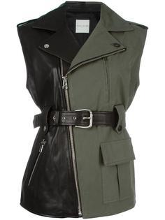 куртка комбинированного кроя в стиле милитари Each X Other