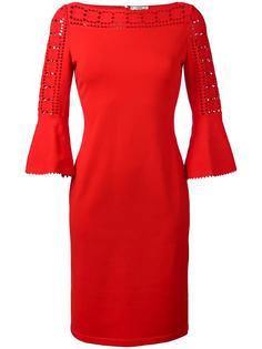 приталенное платье с вырезными деталями Fendi