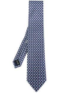 галстук с принтом слонов Salvatore Ferragamo