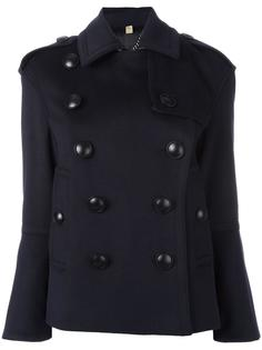 двубортное пальто с большими пуговицами Burberry