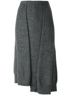 прямая юбка в рубчик Yohji Yamamoto