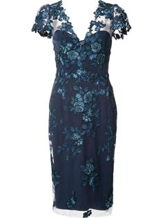 floral lace midi dress Marchesa Notte
