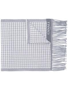 шарф с узором в ломаную клетку Canali