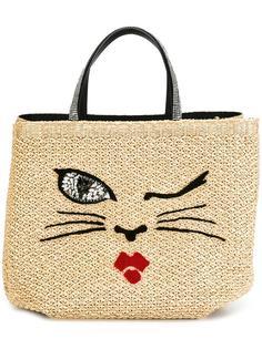 тканая сумка-тоут с элементом кота Ermanno Scervino