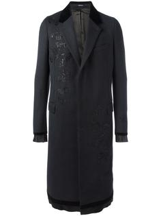 пальто с вышивкой Alexander McQueen