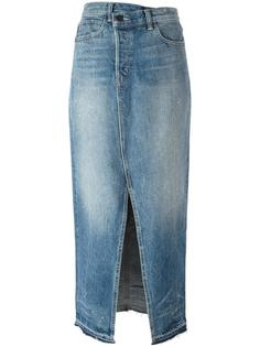 front slit denim skirt Helmut Lang
