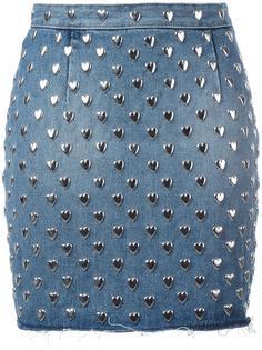 юбка мини с заклепками Saint Laurent