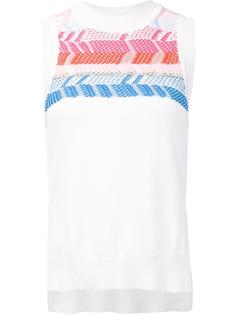 geometric knitted sleeveless top Peter Pilotto