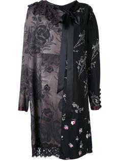 лоскутное платье шифт с цветочным узором Marc Jacobs