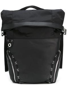 lace-up detailing backpack Diesel Black Gold