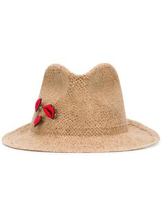 тканая шляпа с нашивками Ermanno Scervino