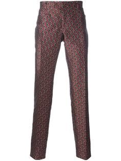 брюки с геометрическим узором Ermanno Scervino