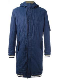 пальто с деталью в полоску Ermanno Scervino