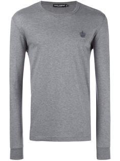 футболка с длинными рукавами и вышивкой Dolce & Gabbana