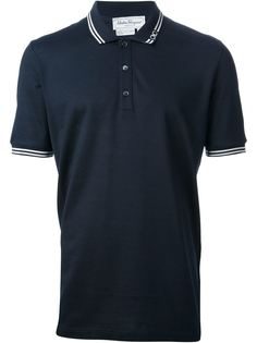 футболка-поло с контрастной отделкой Salvatore Ferragamo