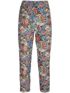 rose jacquard cropped trousers Ermanno Scervino