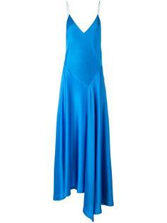 asymmetric slip dress DKNY