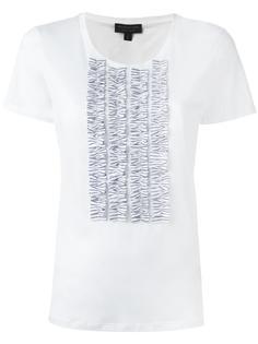 frill trim T-shirt Burberry Runway