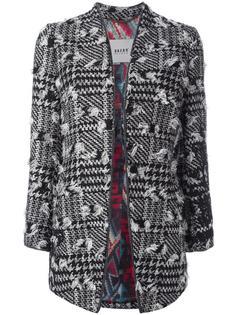 пальто в ломаную клетку с рваными деталями Bazar Deluxe