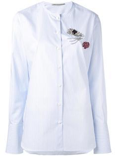 collarless striped shirt Ermanno Scervino