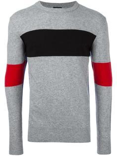 colour block ribbed trim sweatshirt  Diesel
