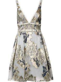 floral print flared dress Marchesa Notte