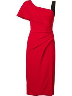 драпированное платье на одно плечо J. Mendel