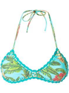 printed bikini top Blue Man