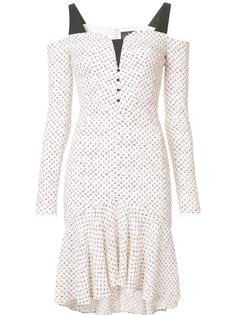 платье с открытыми плечами J. Mendel