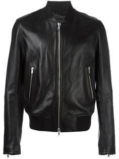 zip up biker jacket Diesel Black Gold