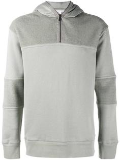 panelled hooded sweatshirt Helmut Lang