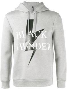 black thunder print hoodie Neil Barrett