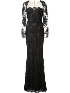 long lace dress Marchesa Notte