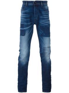 джинсы кроя слим с нашивками Diesel