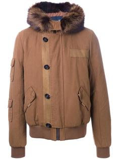 padded hooded jacket Yves Salomon Homme