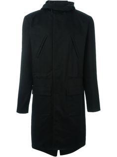 пальто средней длины с капюшоном Raf Simons