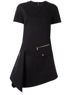 zip detail fitted dress Diesel Black Gold