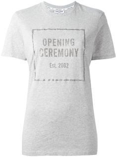 футболка с принтом логотипа Opening Ceremony